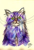 Watercolor Cat by darkmold