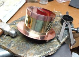 Brass and Copper Mini Top Hat1 by Utinni