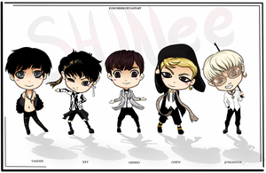 SHINee EVERYBODY Chibis by Kuronishii