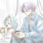 Bulma and Trunks by nuooon