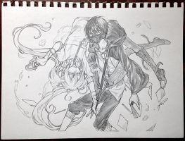 AX15 Pencil commission 01 by yooani
