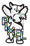 Got my tail~ -Pixel Badge- by TrelDaWolf