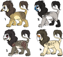 Masked Lion Adoptables - Closed for the moment. by Plumbeck