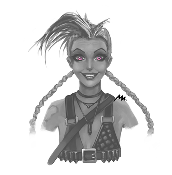 Jinx face update - League of Legends by Wroppi