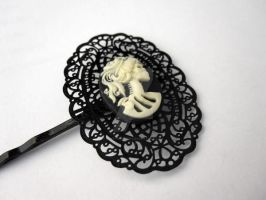 Skeleton Cameo Hair Pin by egyptianruin
