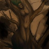 Treewoman unfinished by BinaryDood