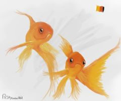 Goldfish Painting by Peskywaabbit
