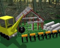 Construction Site in 3D by AnimeGal2010