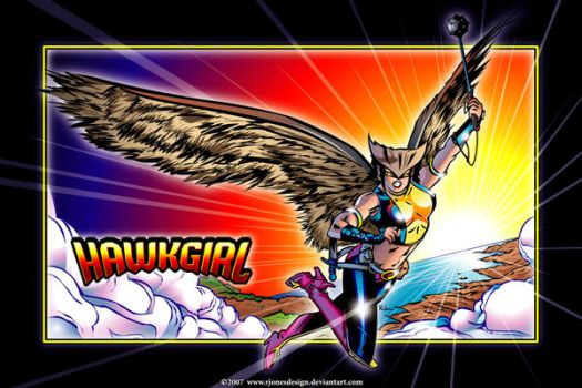Hawkgirl by rjonesdesign
