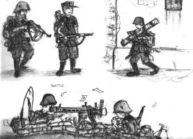 German Soldier Comic Concept by Marpaparp