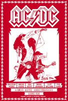Abdul Vas ACDC 40th Anniversary Poster by ACDCfanNY