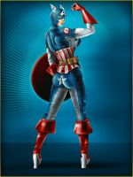Captain America Gender Switch by NickBarfuss