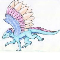 Feathery Dragon by qwerty1198