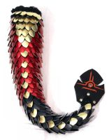 Red, Gold, and Black Dragon Tail - ss5gogetunks by SerenFey