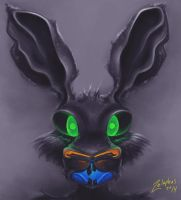 Glow Rabbit by Zelaphas