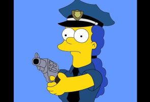 Marge policia by JuniorGustabo