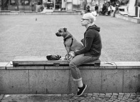 Girl and Dog by sandas04