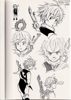 Meliodas Sketches by Vol-chan