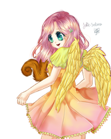 Fluttershy ~ Draw This Again ~ by Solanapple