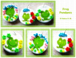 Frog Pendants by ChocoAng3l