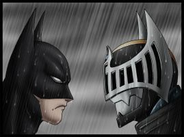 Batman vs. Wing Knight by crovirus