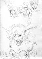 Warmup sketches by AphexAngel