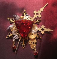 """Bloody Aether"" brooch by Space-Invader"