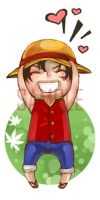 Chibi Luffy by 2beats