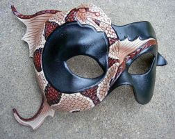 Ouroboros Mask, copperhead by merimask