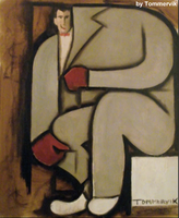 pee wee herman abstract cubism painting by TOMMERVIK