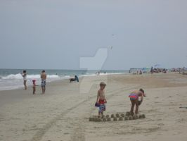 Kids making Castles of sand by AnaturalBeauty