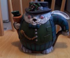 White Rabbit Tea Pot by MadForHatters