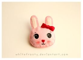 Sweetheart Bunny Brooch by whitefrosty