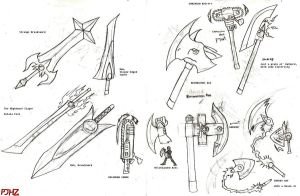 -CONCEPT- More Blades Sketches by ProjectHazoid