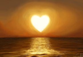 Heart Shaped Sun by Eye-Freeze