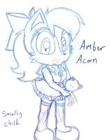 Amber Acorn (Sonally child) Sketch by SonicMiku