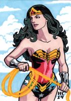 Sketchcards DC Wonder Woman by hamdiggy