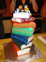 7 Harry Potter Books Cake - 4 by wotchertonks7
