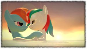 Ocean of love - Rainbow Dash and Shiron by Neros1990