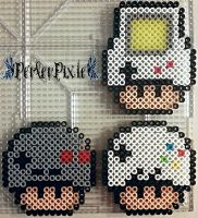 Gaming Mushrooms by PerlerPixie