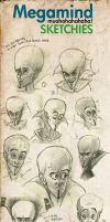 Megamind Sketch Dump by Techta