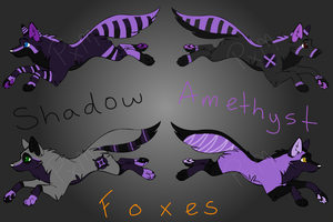 ~(NUMBER 4 OPEN) Shadow Amethyst Foxes~ by Prettyxmouse