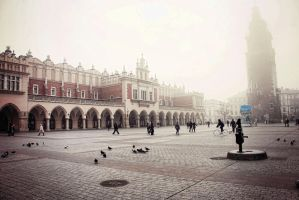 Cracow in Fog by BlueColoursOfNature