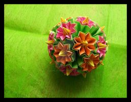 Spring Kusudama by lonely--soldier
