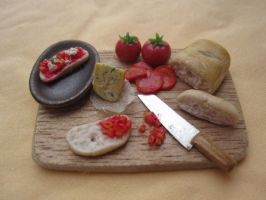 bruschetta preparation board by sleeping-dog