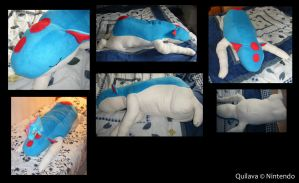 Plushie - Sleeping Quilava by Gomis