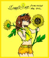Evul Sunflowers, colored by NitroFieja