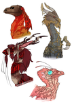 Some of my FR dragons by CrazyRatty