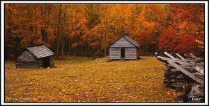 Cabin on Roaring Fork Fall 05 by TRBPhotographyLLC