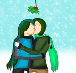 Kissing Under The Mistletoe by LadyDelaisol
